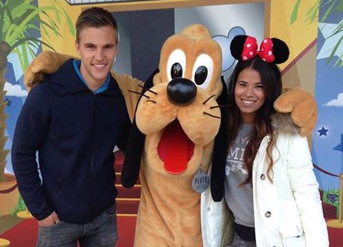 Joel Veltman en vriendin Naomi Disney
