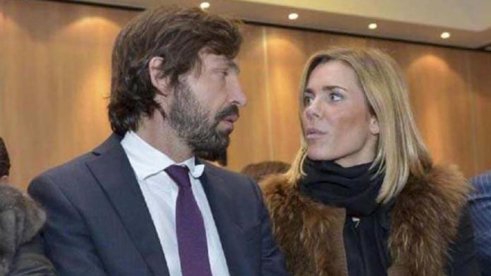 Andrea Pirlo en Deborah Roversi