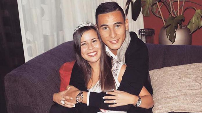 Anwar El Ghazi with sexy, friendly, fun, Girlfriend Melanie Gallardo Robles