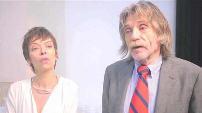 Johan Derksen with kind, clever, Wife Isabelle Pikaar