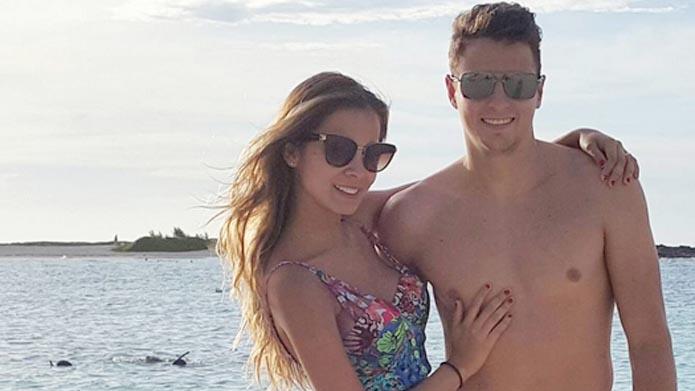 Santiago Arias vriendin Karin Jimenez