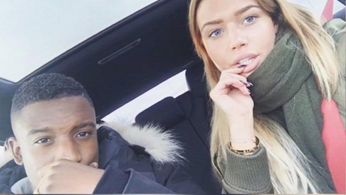 Riechedly Bazoer with Girlfriend Annabel