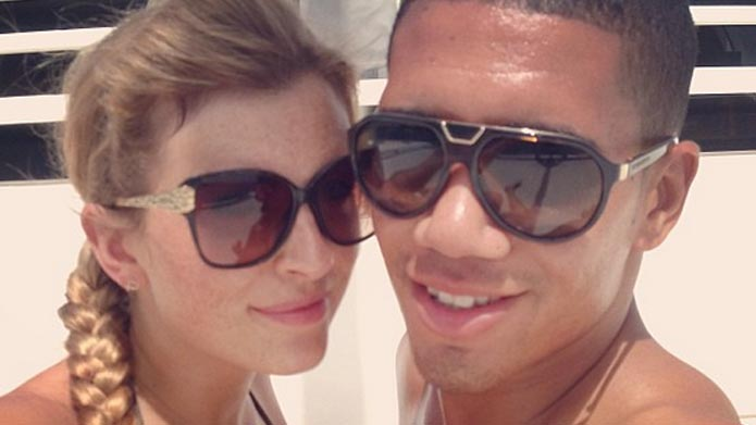 Sam Cooke vriendin van Chris Smalling