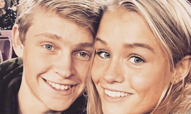 Frenkie de Jong with Girlfriend Mikky Kiemeney